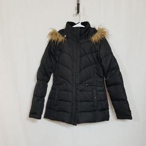 Larry Levine Hooded Down Jacket